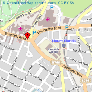 Map: Battlefield Rest, Cathcart, Glasgow