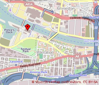 Map: BBC, Pacific Quay, Glasgow
