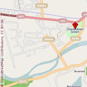 Map: Charlestown Green, Aboyne