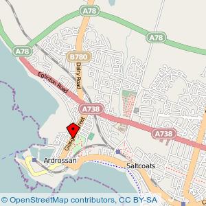 Map: Civic Centre, Ardrossan