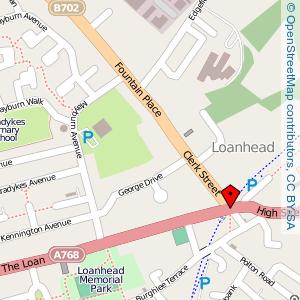 Map: Clerk Street, Loanhead