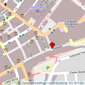 Map: Eastgate, Inverness