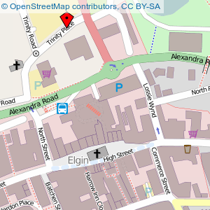 Map: Town Hall, Elgin