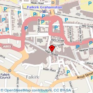 Map: High Street, Falkirk