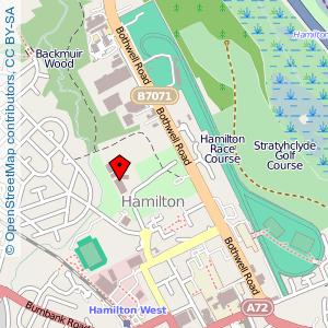 Map: Holy Cross High School, Hamilton