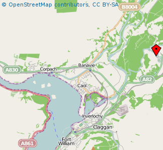 Map: Inverlochy Castle Farm, Fort William