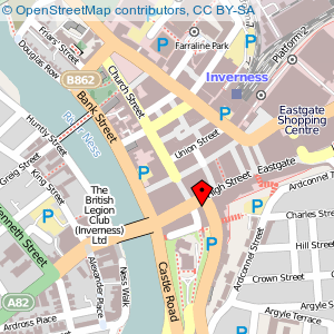 Map: Inverness Town House, Inverness