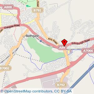 Map: Kaim Park Hotel, Bathgate