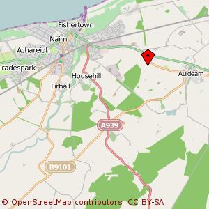 Map: Kinnudie Farm, Auldearn, Nairn