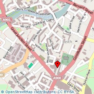 Map: Kirkgate, Leith, Edinburgh