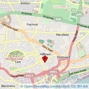 Map: Mark Henderson Centre, Dundee