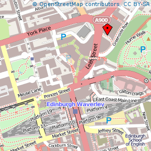 Map: Omni Centre, Edinburgh