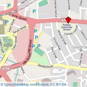 Map: Paisley Grammar School, Paisley