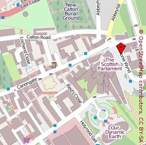 Map: Scottish Parliament, Edinburgh