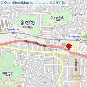 Map: Shettleston New Church, Shettleston