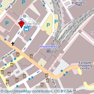 Map: Spectrum Centre, Inverness