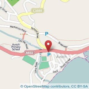 Map: Station Hotel car park, Avoch