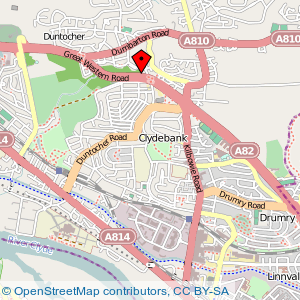 Map: West Park Hotel, Duntocher, Clydebank