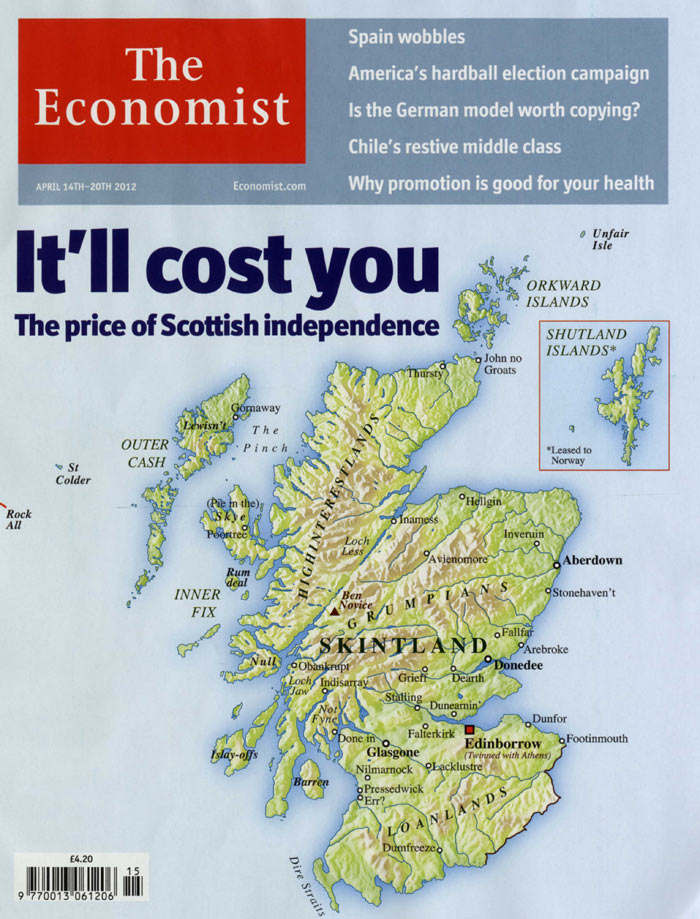 The Economist's Skintland Cover